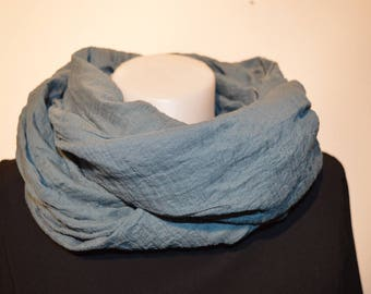 grey scarf, snood