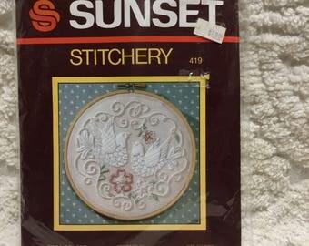 Sunset Stitchery Kit - Birds of Love