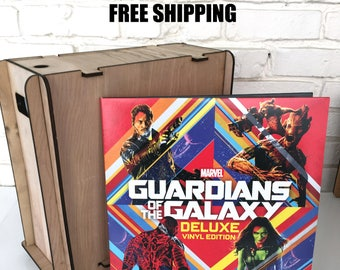 Vinyl LP Record Carrying Tote - Included Guardians of the Galaxy Vinyl Record - Free Shipping - Vinyl record storage-Great Gift-Record Crate