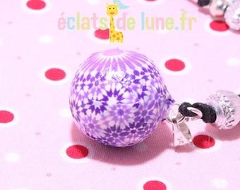 Genuine pregnancy's Bola purple flower pattern