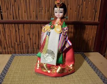 Vintage Korean Doll 10 Inches Tall