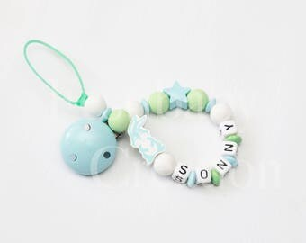 """Pacifier clip personalized silicone beads - model """"Sonny"""""""