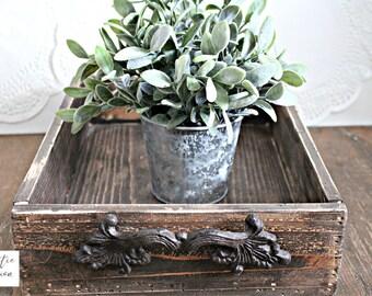 Rustic Wood Tray / Pallet Wood Tray / Kitchen Tray / Ottoman Tray / Farmhouse Tray / Rustic Home Decor / Gray Tray / Neutral Tray