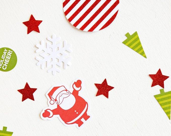 SALE Holiday Confetti, Christmas Confetti, Merry Christmas Confetti, Santa Claus Confetti, Christmas Tree Confetti, Merry Christmas, hyp412