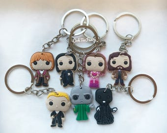 Harry Potter Keychains, Harry Potter, Dobby keychain, Dumnledore Keychain, Hermione Keychain, Death eater