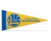 "Golden State Warriors NBA Mini Pennant, 4"" x 9"""