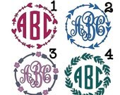 Border Monograms OUTDOOR Vinyl | Arrow Monograms | Arrow Border Monograms