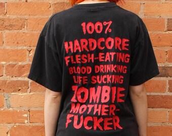 Rob Zombie 100% Hardcore Original 1990s Vintage T-Shirt