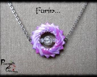 Furin-purple modular origami necklace