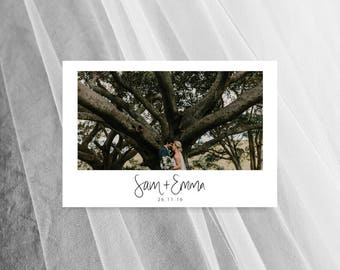 Wedding Thank You Cards Photo Printable Card Template Postcards