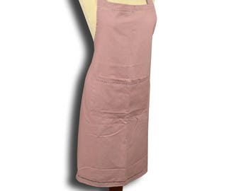 Apron adjustable pink color