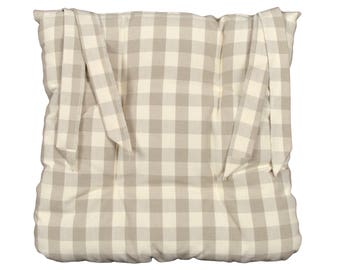 """40x40cm """"country off-white"""" Chair pad"""