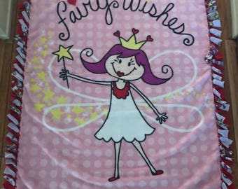 Fairy fleece throw blanket