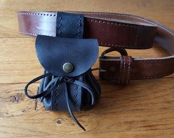 Black purse from the belt
