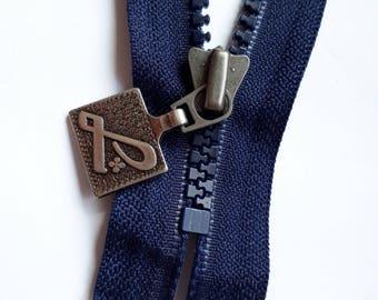 Dark blue Vislon 5 indivisible vintage zipper rough elephant teeth size 5 (058 YKK) zipper молния cerniera cipzár fermeture éclair