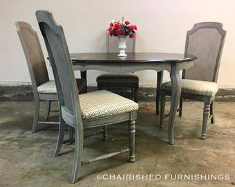 Rustic French Country Dining Set