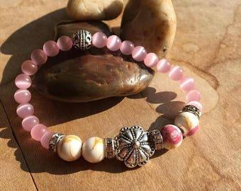Pretty Floral Beauty /Stretch Bracelet/ Beaded Bracelet