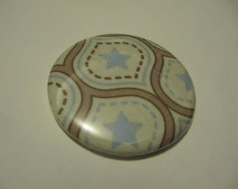 Riley Blake fabric Pocket mirror Star Blue 5.6 cm