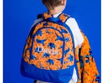 Dino-mite Preschool Monogrammed Backpack