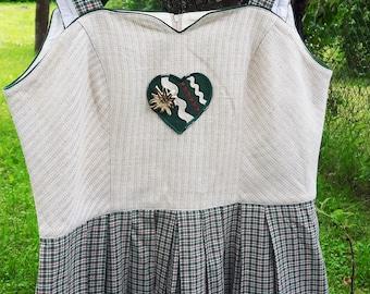 Vintage Dirndl Dress Trachten Austrian Oktoberfest German Size D/42, US/14, GB/16