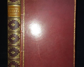 English Seamen in the Sixteenth Century by James Anthony Froude 1901 Leather Fine Prize Binding Illustrated Rare Book