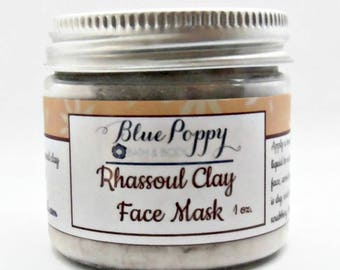 Rhassoul Clay Face Mask, Moroccan Clay, Cleansing Facial Treatment For Dry Skin, Sensitive Skin