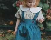 Vintage Skirt - Suspender Skirt - Toddler Outfit - Girls Skirts - Vintage Style Skirt