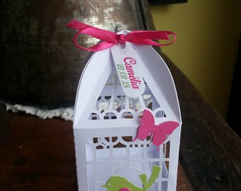 containers for sweets, favors, bird and Butterfly theme