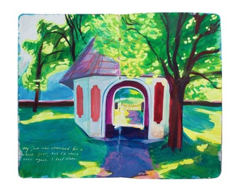 """Fine Art Print of Landscape Painting from Artist Travel Journal - """"Finland Garden Shed"""""""