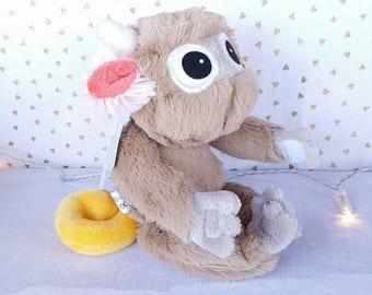 """Plush monkey """"customizable"""" horned - Monster toy"""