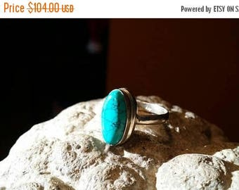 Holiday SALE 85 % OFF Turquoise Size 7 1/4 Ring Gemstone. 925 Sterling Silver Etsy Gift Sale