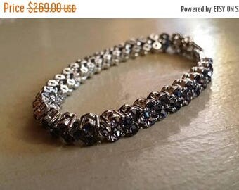 Holiday SALE 85 % OFF Amethyst   Tennis  Bracelet Gemstone 18K White gold fill