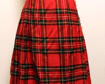 70s vintage O'neil of dublin kilt skirt made in Ireland