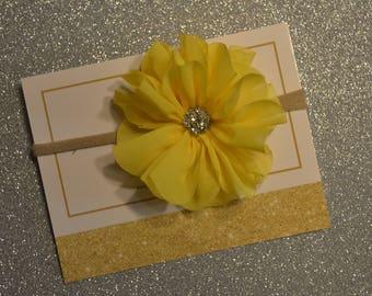 Spring yellow headband