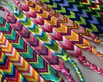 Woven Friendship Bracelet, Friendship Bracelet, Chevron Friendship Bracelet, Braided Friendship Bracelet, Best Friends Bracelets