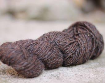 Wool tweed yarn Natural wool Brown wool chunky wool Tweed yarn