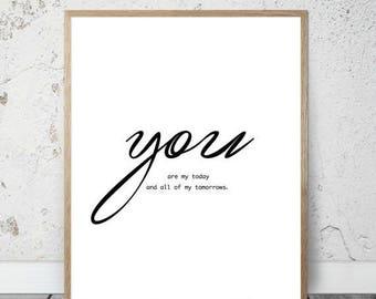 SALE Valentine Digital Print, Wall Art, Valentine Gift, Gift for her, Printable Decor, Instant Download, Printable Art, Instant download