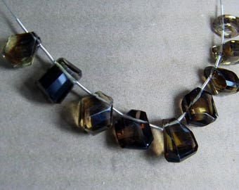 1 Strand Bio Smoky Lemon Quartz Rough Natural Faceted beads 24. grams 10X14 16X17 MM