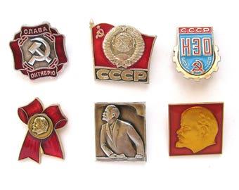 October Revolution, Badge, Pick from Set, Lenin, October 1917, Communism, Vintage collectible badge, Pin, Soviet Union, Made in USSR
