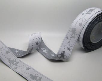 Light grey woven Ribbon patterned childish plane-ref C10