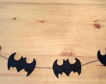 Felt bat garland. Halloween decoration