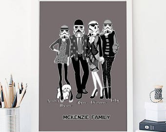 Father's Day Gift Star Wars Family Daddy Stormtrooper  Fathers Day Personalised Father's Day Stormtrooper Family Personalised Gift Star wars