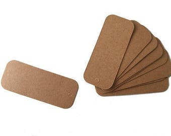 Set of 10 Kraft Brown rectangle-