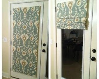 "Flat Roman Shade ""Vista Laurel"" with chain mechanism, Roman Shades, Window Treatment, Custom Made"
