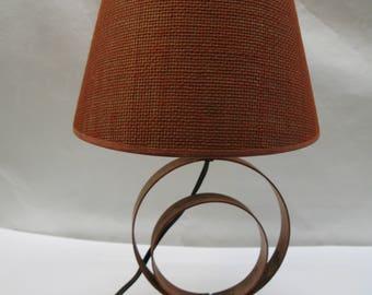 Vintage Mid Century Geometric Metal Circle Table Lamp