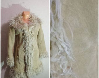 Sheepskin Coat Suede Coat Women Warm Jacket Medium Size