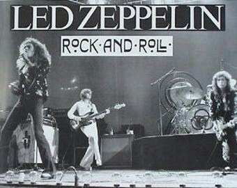 Led Zeppelin Rock And Roll Live On Stage 23 x 33