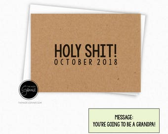 Holy Shit! You're Going to Be a Grandpa | Grandma | Grandparent | Great Grandparent