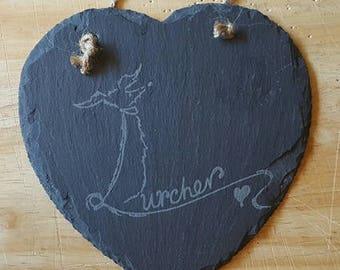 Slate heart - Lurcher, Podenco, Saluki or Whippet