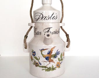Pastis. Patis pitcher. Pastis jug. French pitcher. Pastis water jug. French barware. Vintage pitcher. Vintage Pastis. Garden party. Pitcher.